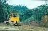 Deforestation bulldozer Central Ecuador